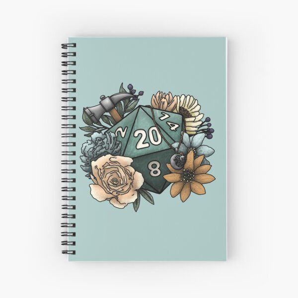 Cleric Class D20 - Tabletop Gaming Dice Spiral Notebook