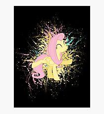 Fluttershy Paint Splatter Photographic Print