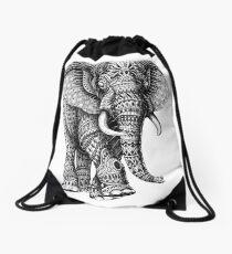 Ornate Elephant v.2 Drawstring Bag