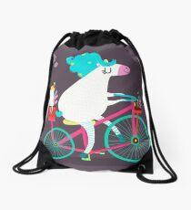 Horse ride Drawstring Bag