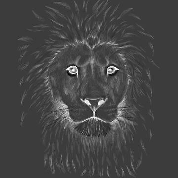 Ghost Lion lineart by SuspendedDreams