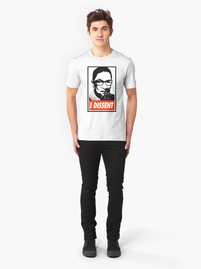 Alternate view of Notorious RBG I Dissent Slim Fit T-Shirt