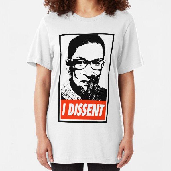 Notorious RBG I Dissent Slim Fit T-Shirt