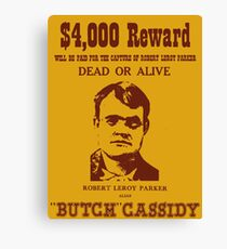 Butch Cassidy Canvas Print