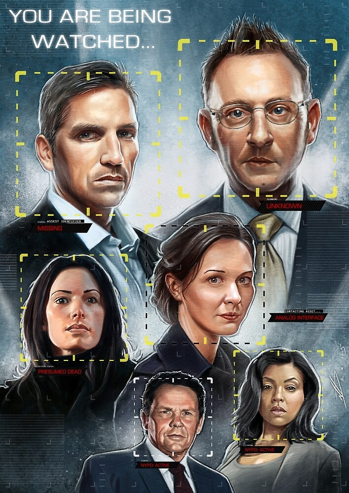 Person of Interest Cast Illustration
