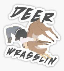Deer Wrasslin' Sticker