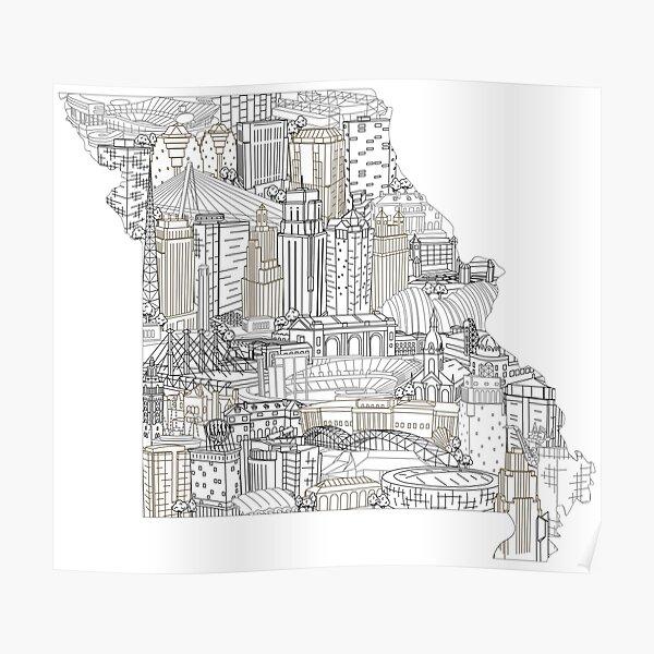 Kansas City Missouri Skyline Art Poster