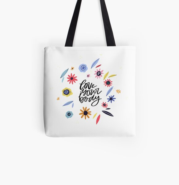 Love Your Body All Over Print Tote Bag