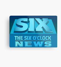 The Six O'Clock News Metal Print