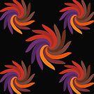 Multi-Color Swirl Flower by JoannieKayaks