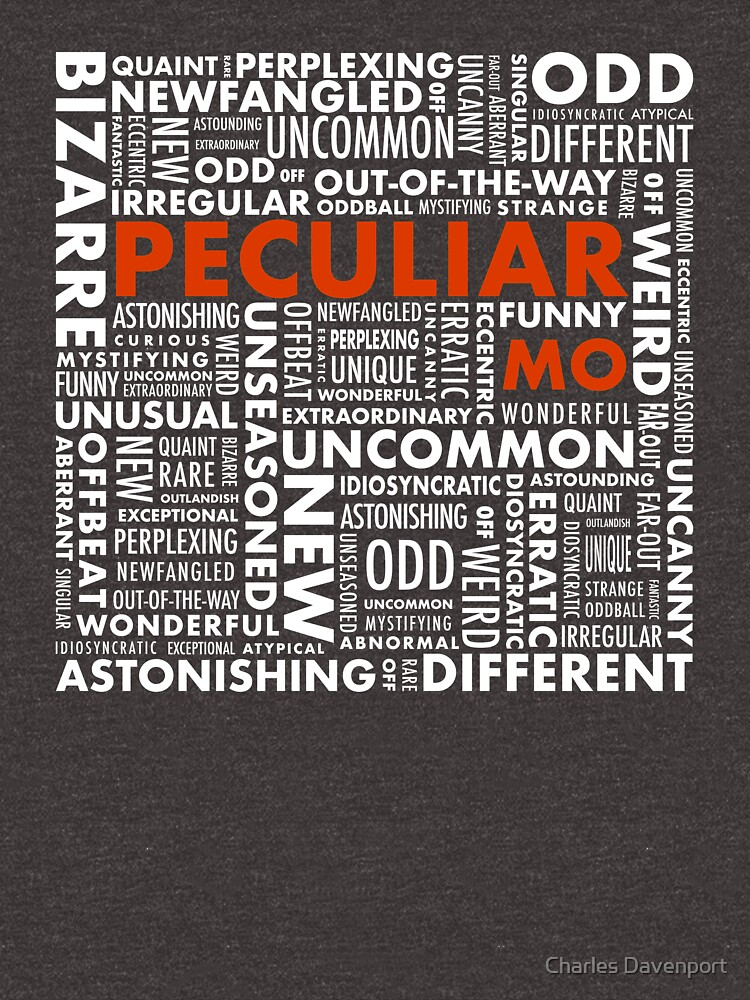 Peculiar Words by cdavenport4
