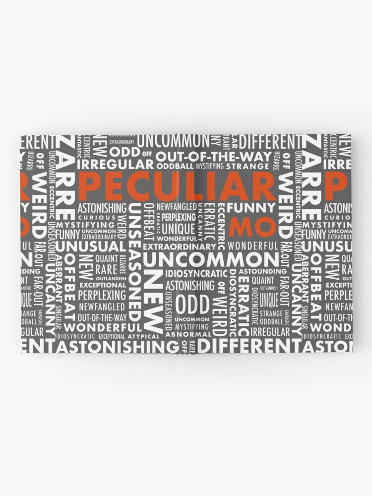 Alternate view of Peculiar Words Hardcover Journal
