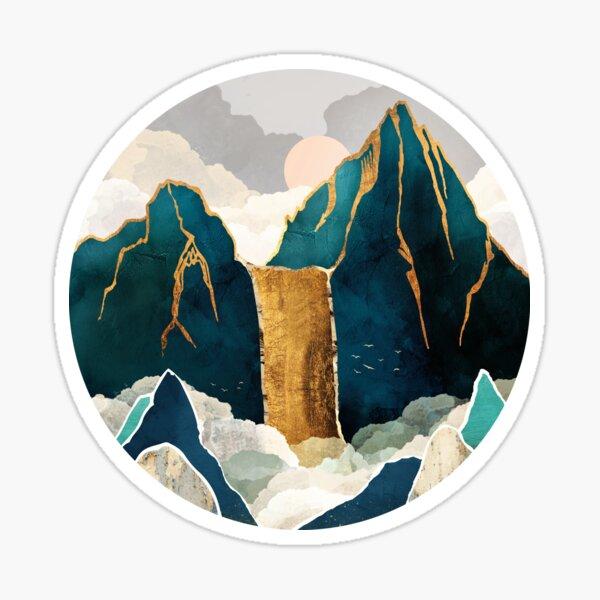 Golden Waterfall Sticker