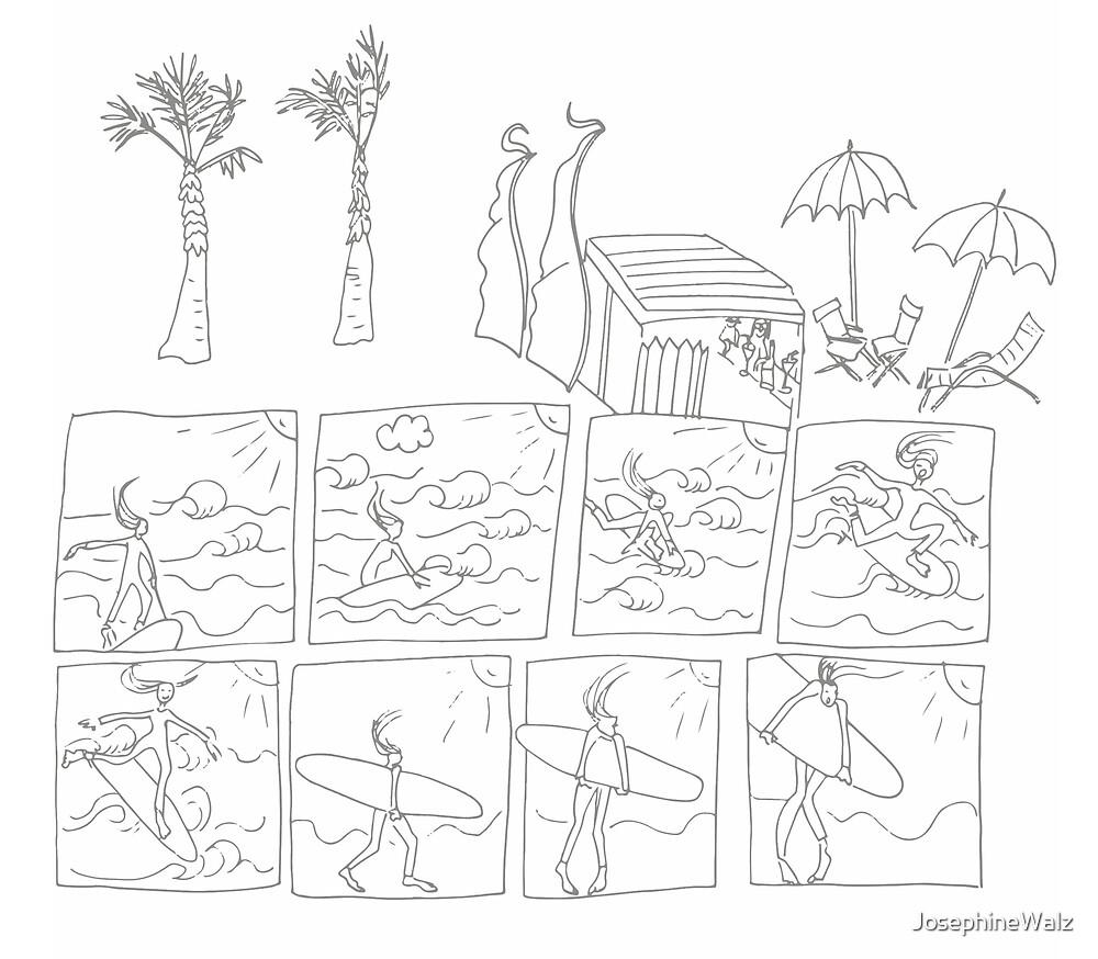 Surfen Comic  von JosephineWalz