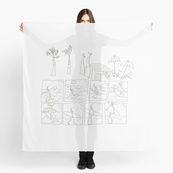 Surfing comic Scarf