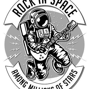 Rock In Space Sound - Guitar Astronaut by Skullz23
