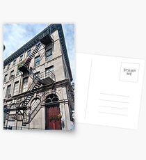#FireEscape #pompier #PompierLadder #ScalingLadder Montreal #Montreal #City #MontrealCity #Canada #buildings #streets #places #views #building #architecture #windows #sculptures #door #entry Postcards