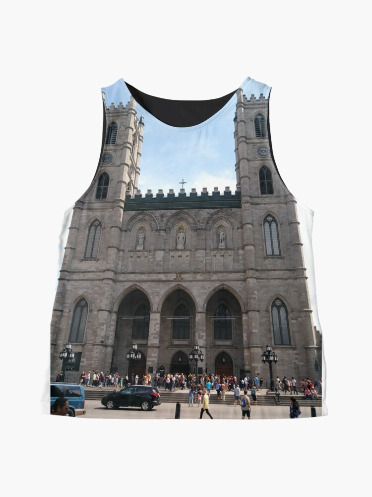 Alternate view of Notre-Dame Basilica, #NotreDameBasilica, #NotreDame, #Basilica, Montreal, #Montreal #City, #MontrealCity, #Canada, #buildings, #streets, #places, #tourists, #architecture, #monuments, #Cathedral Sleeveless Top