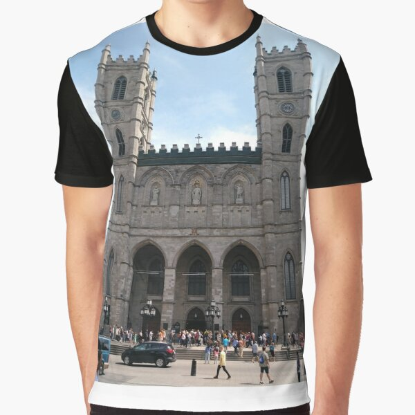 Notre-Dame Basilica, #NotreDameBasilica, #NotreDame, #Basilica, Montreal, #Montreal #City, #MontrealCity, #Canada, #buildings, #streets, #places, #tourists, #architecture, #monuments, #Cathedral Graphic T-Shirt