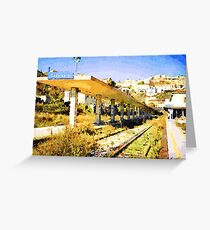 Catanzaro: railway station Greeting Card