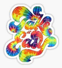 take it easy tie dye  Sticker