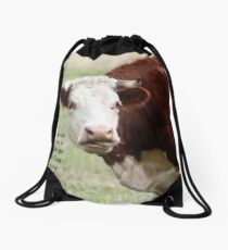 Chewing the Cud Drawstring Bag