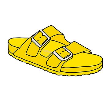 Yellow  Birkenstock  by abbyconnellyy