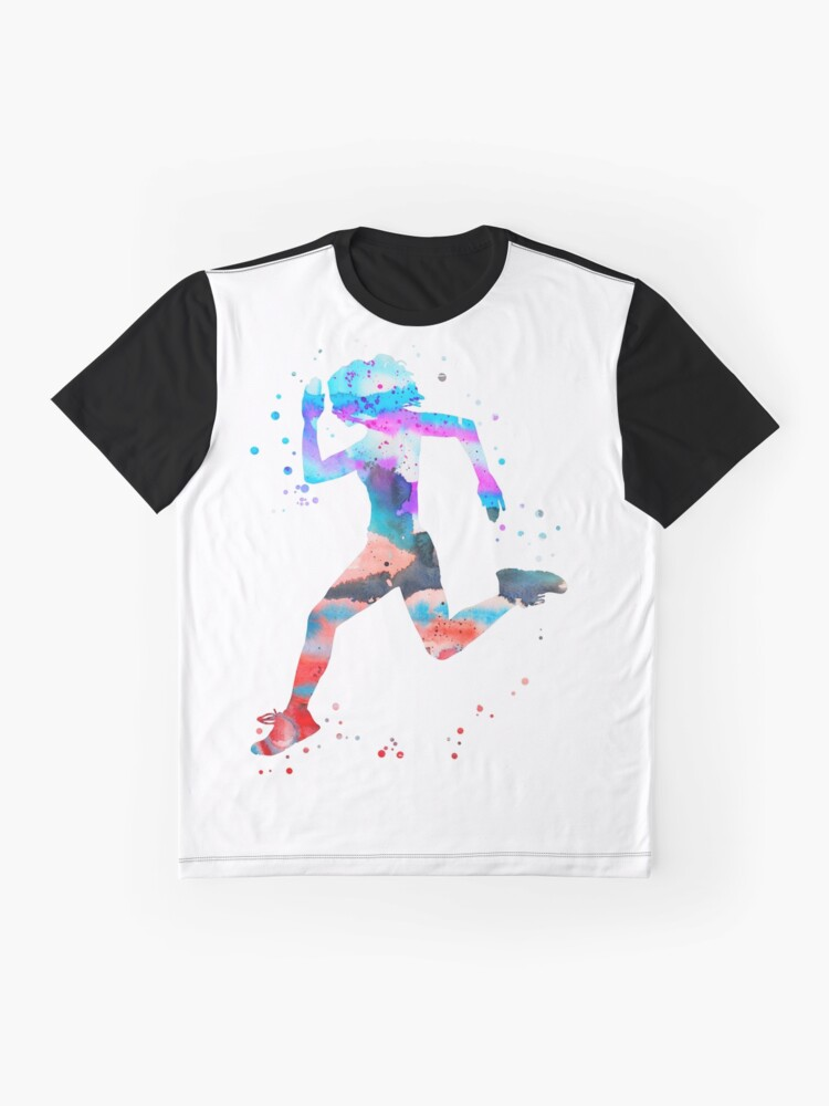 Alternate view of Jogger girl Graphic T-Shirt