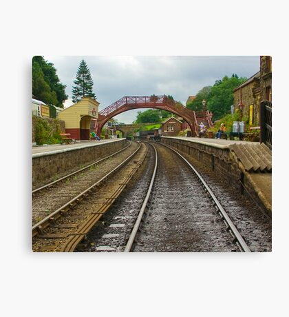 Foot Bridge at Goathland Station Canvas Print