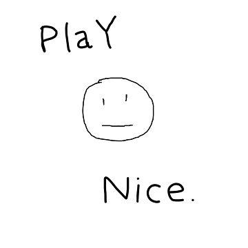 Play Nice Tee | Kids Handwriting T-Shirt | Edgy Kids Shirt by SoundoftheGeeks