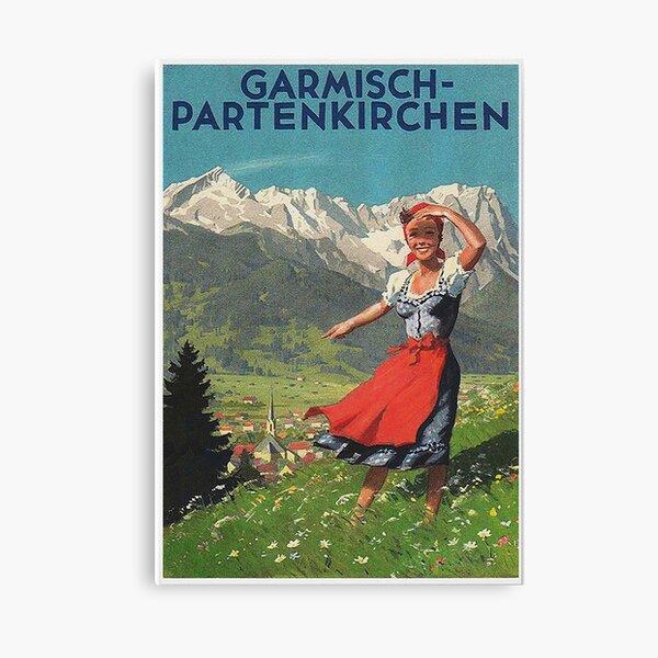 Garmisch Partenkirchen ... cartel turístico vintage Lienzo