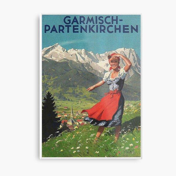 Garmisch Partenkirchen... vintage tourist poster Metal Print
