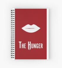 The Hunger Minimalist Poster Spiral Notebook