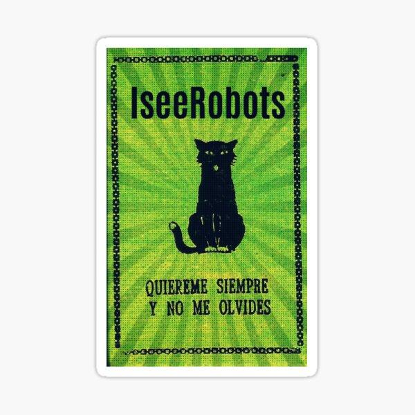 Green Haunted Soap Black Cat Sticker Sticker