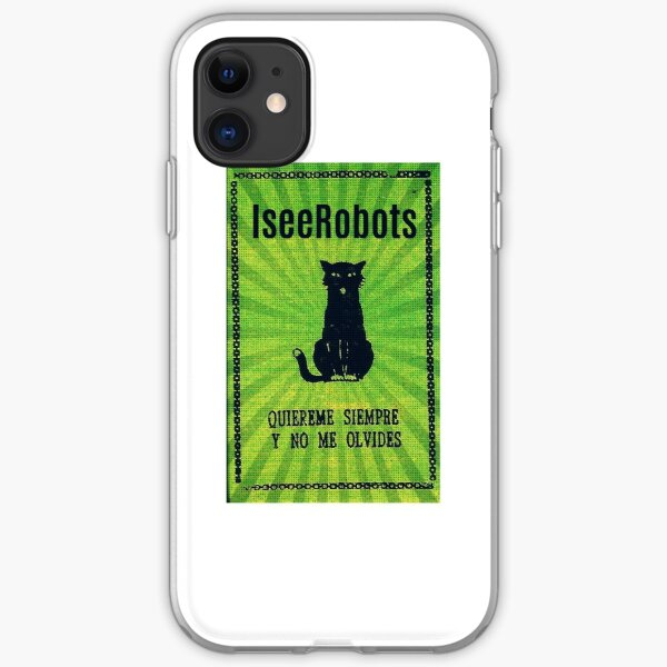 Green Haunted Soap Black Cat Sticker iPhone Soft Case