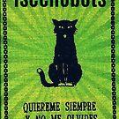 Green Haunted Soap Black Cat Sticker by IseeRobots