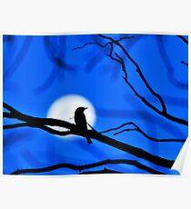Woodswallow Moon Poster