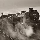 'Leander' at Hellifield station by Steve  Liptrot