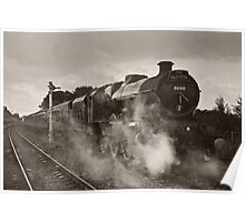 'Leander' at Hellifield station Poster