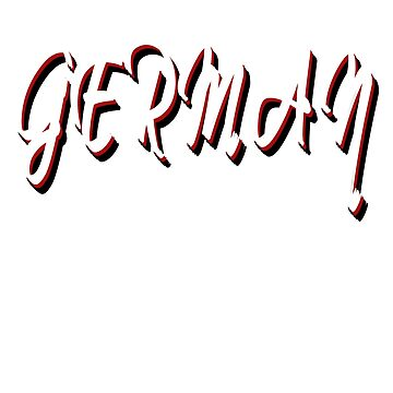 Germany stylish text design by jhussar