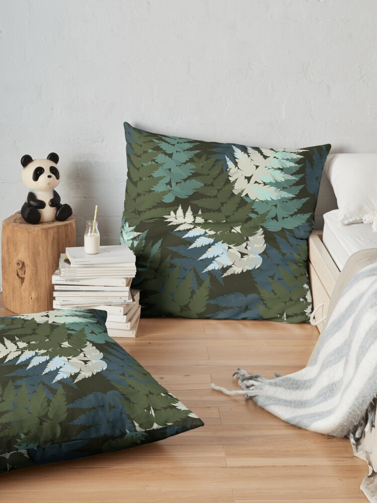 Alternate view of Silver Fern Floor Pillow