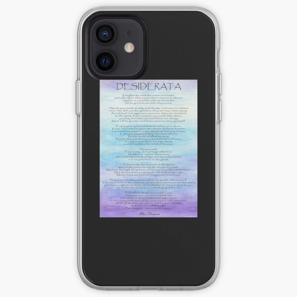 Desiderata iPhone Soft Case