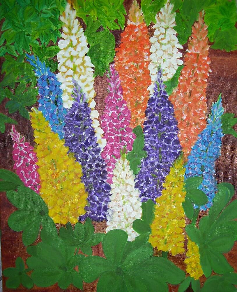 Garden  Lupine by elajanus