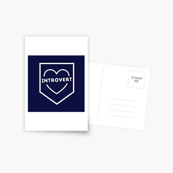 Funny introvert heart  Postcard
