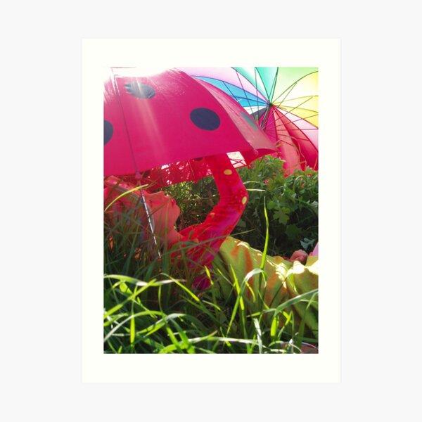 Umbrella Houses Art Print