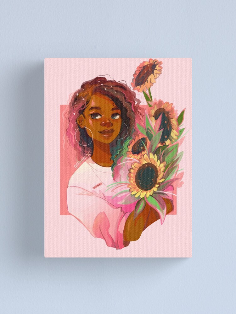 Alternate view of Pink Sunflowers Canvas Print
