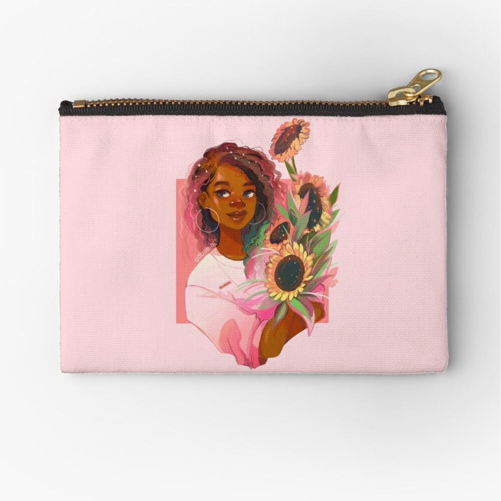 Girasoles rosas Bolsos de mano