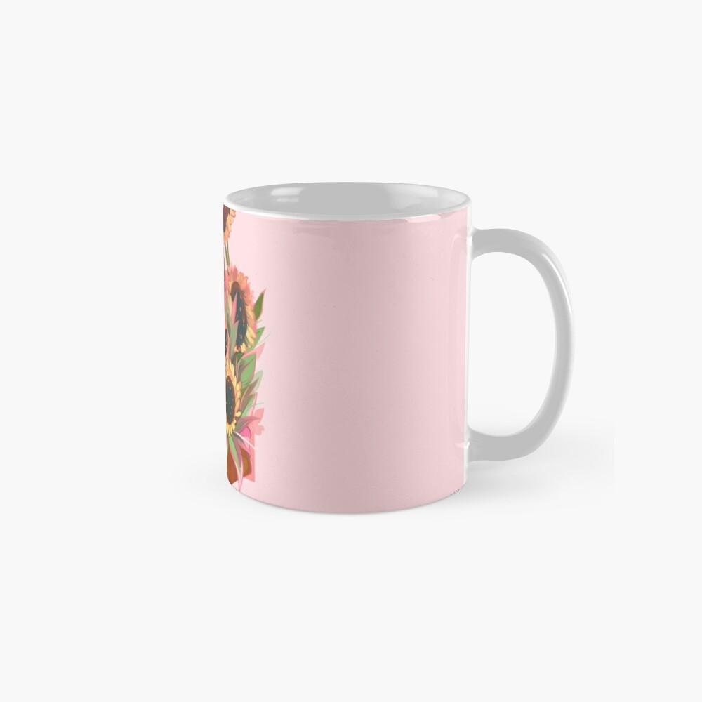 Girasoles rosas Taza