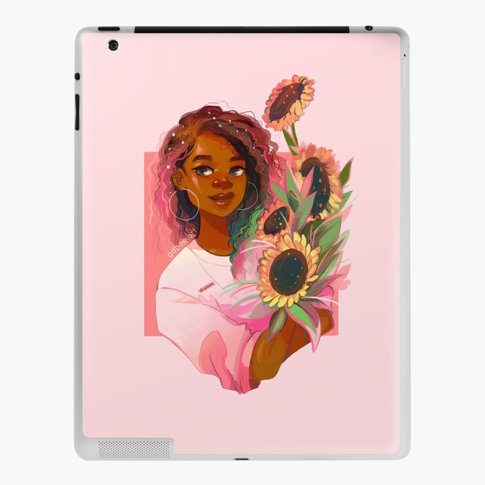 Pink Sunflowers iPad Case & Skin