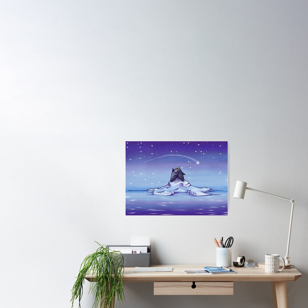 Penguins and Stars Poster